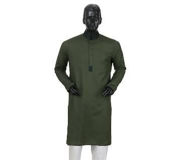Mens Long Cotton Panjabi - 27 (Dark Gray)