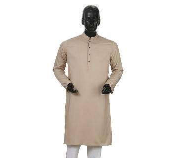 Mens Long Cotton Panjabi - 33 (Light Gray)