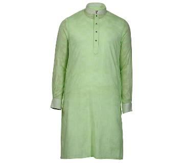 Mens Long Cotton Panjabi - 51 (Light Green)