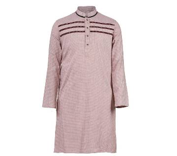 Mens Long Cotton Panjabi - 67 (Light Purple)