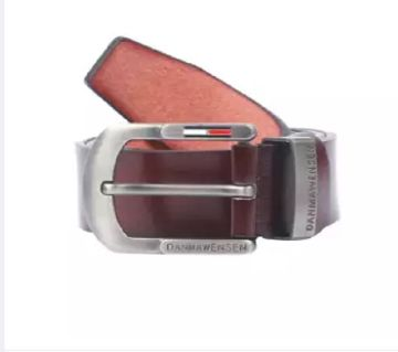 Chocolate Artificial Leather Formal Belt For Men