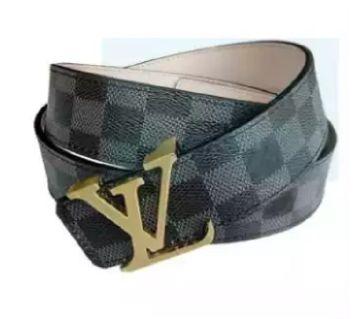 03Black LV Formal & Casual Belt For Men