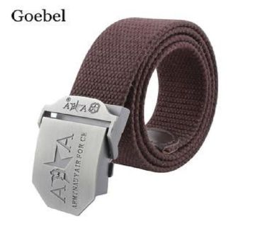 06Coffee Fabric Belt For Men
