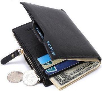 04Black Artificial leather wallet for men