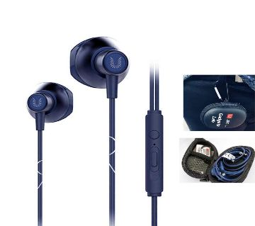 Uiisii HM-12 Clear Music and Gaming Earphone  (Blue)