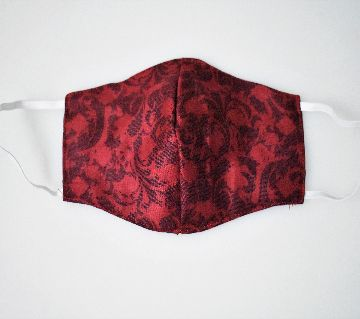 CDC Approved Fabric Face Masks (Red Colour)