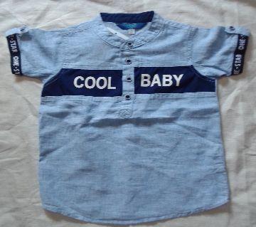 Shirt for  baby Boys-gray