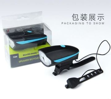 USB Bicycle Light with Horn