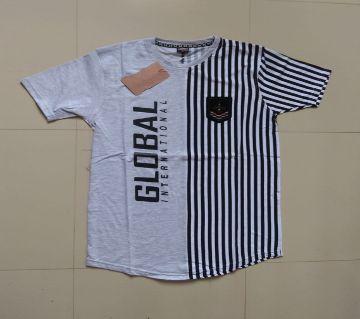 half sleeve cotton T- shirt  for men-white