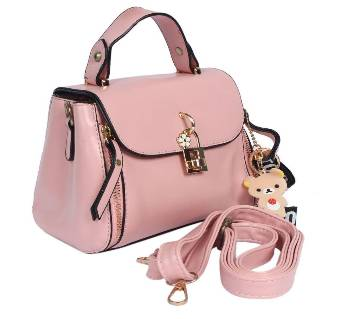 Pink Artifical Hand bag