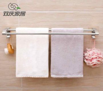 Double Towel Rack (Silver) Magic Sticker
