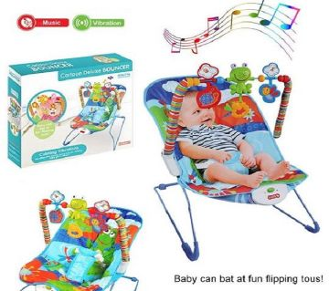 I Baby Cartoon Deluxe Bouncer