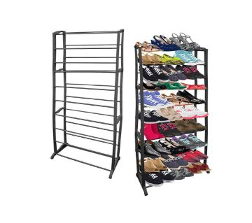 10 Tier Black Shoe Rack MC