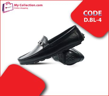Leather Loafers for men  -black