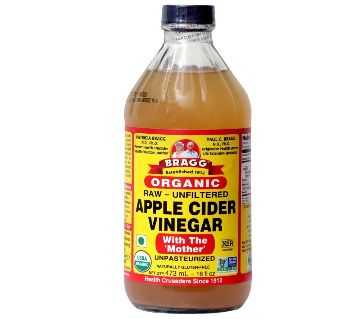 Apple Cider Vinegar with The Mother (Raw - Unfiltered), 473 ml