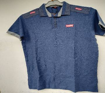 Export Quality half sleeve  Polo-Shirt for Men-Levis -blue