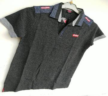 Export Quality half sleeve  Polo-Shirt for Men-Levis -black