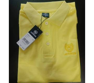 Export Quality cotton Polo Shirt for Men-yellow