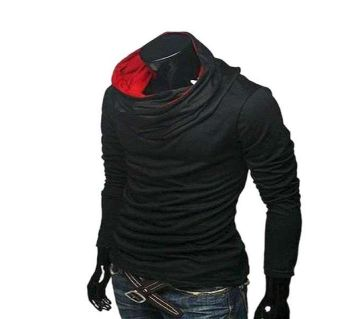 Full Clive Black Cotton Long Sleeve T-Shirt for Men