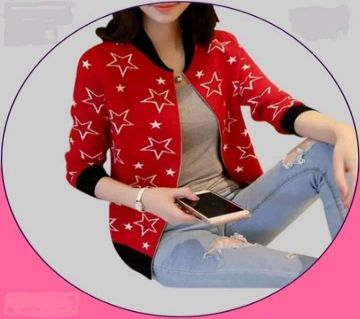 Red Color comfortable cotton Jacket For Women