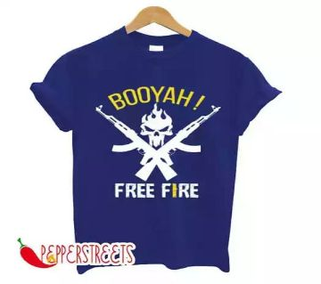 FREE-FIRE Half sleeve cotton mens t-shirt
