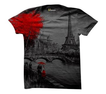 Comfortable Cotton Half Sleeve For Mans T-Shirt Menz Casual / Formal / Trendy / Colourfull