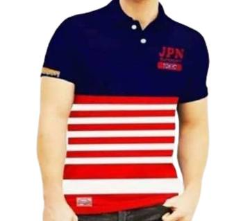 red & black pollo shirt for men