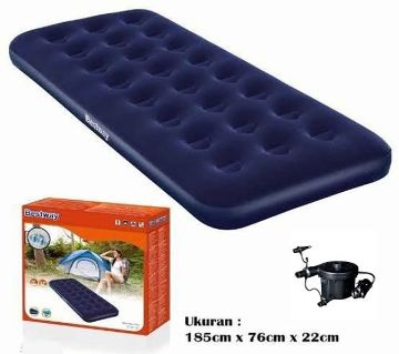 Single air bed with electric pump