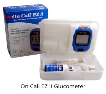 On call EZ ll Blood Glucometer