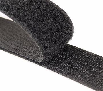 1M (Black) Self Adhesive Hook and Loop Tape 3cm Wide, Sticky Back Velcro Strips, Double Sided Sticky Tape