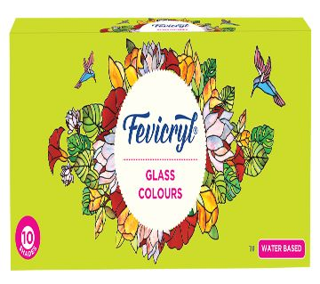 Fevicryl Glass Colour Kit  (water Based) - 115 ml