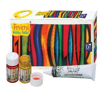 Fevicryl Glass Colour Kit (Solvent Based) - 85 ml