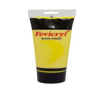 : Fevicryl Acrylic Colours For Canvas - Lemon Yellow Cadmium ( 200 ml )