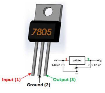 L7805 5 Volt Regulator IC With Heatsink 10 Piece