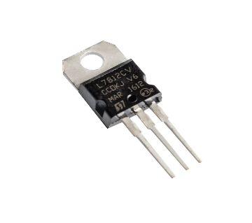 L7812 12 Volt Linear Voltage Regulator IC With Heatsink 5 Piece