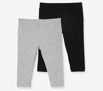 Baby Girls Solid Color Leisure Cotton Warm Leggings Pants set 2 pcs
