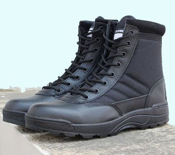 China Army Zipper Long Boots For Men
