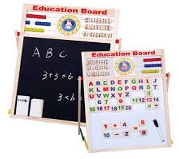 Baby Shelf-Educational Learning Board Multipurpose Double-Sided Magnetic Wooden Writing