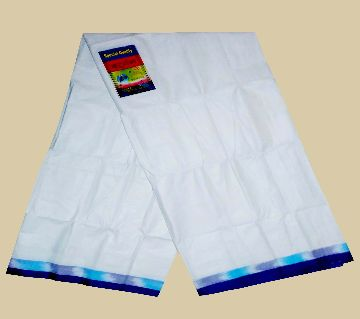 White Cotton lungi for man very comfortable to wear