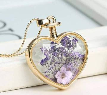 Heart Shape Real Flower Locket