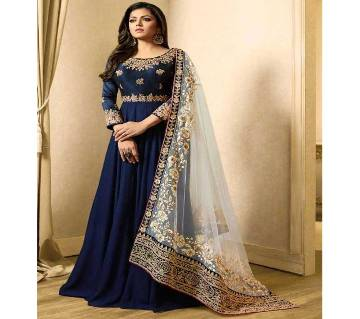 Stitched georgette gown for women