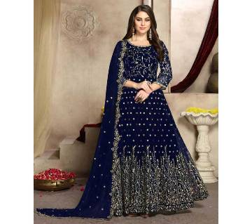 Drashti Dhami Style Navy Blue Anarkali Suit
