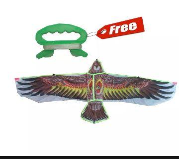 Kite 1.35m /45 Polyester Beautiful Fashion Children chil Ghuri/guri Toy Empty Spaces Eagle Kite Kids Eagle Kite