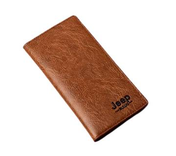 artificial leather wallet for men brown