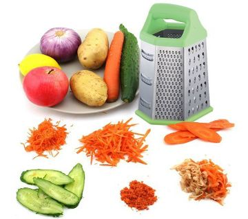 6 sides stainless steel Vegetable and food box grater with plastic handle