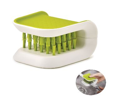 BladeBrush knife and cutlery cleaner, white  green