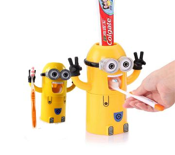 Minions Toothpaste Dispenser  Yellow