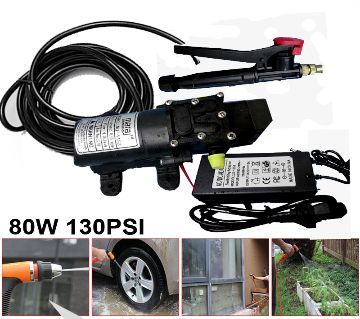 High Pressure Bike and Car Washing Water Pump Motor Set, AC & DC