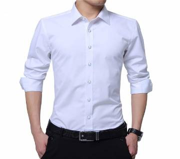 WHITE LONG SLEEVE FORMAL SHIRT FOR MEN