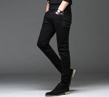 Slim-fit Stretchable Denim Jeans Pant-black